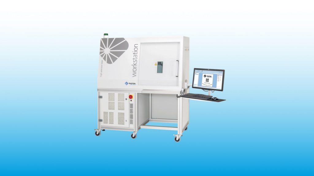 Lasermarkiersystem WORKSTATION für Laserbeschriftung, Lasergravur, Mikrobearbeitung, Laserschneiden und Laserbohren
