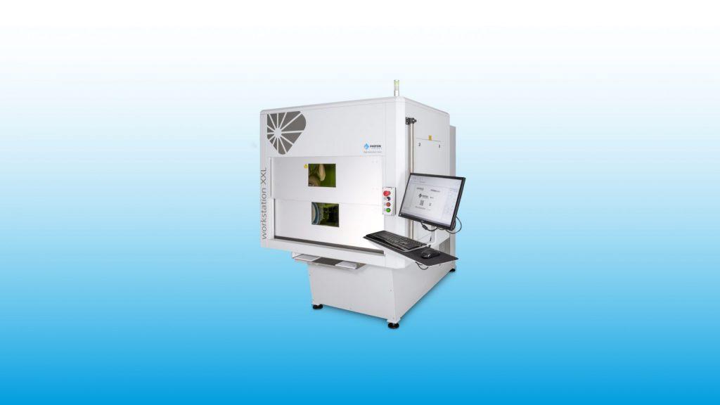 Lasermarkiersystem WORKSTATION XXL für Laserbeschriftung, Lasergravur, Mikrobearbeitung, Laserschneiden und Laserbohren