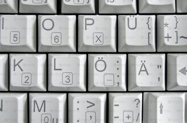 Laser Beschriftung Tastatur
