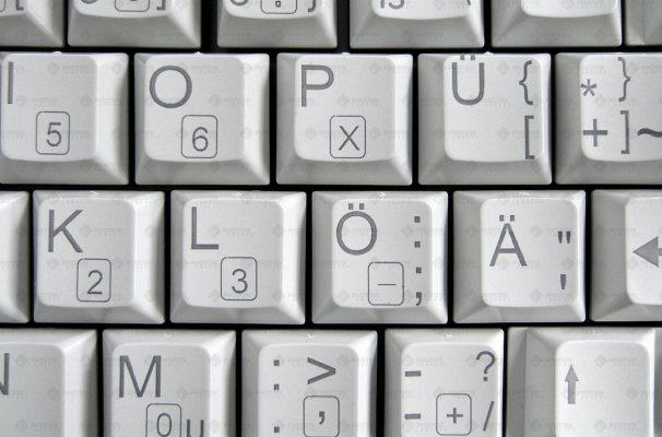 laser carbonisation on keyboard