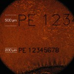 gold-micro-lasermarking with a 500µm & 200µm character size