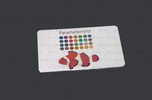 Parameterfeld Anlassmarkierung auf Metall