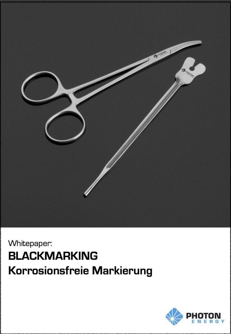 """Whitepaper """"Korrosionsfreie Markierung – Blackmarking"""""""