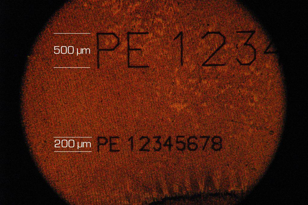 Lasermarkierung im Mikrobereich mit Ultrakurzpulslaser