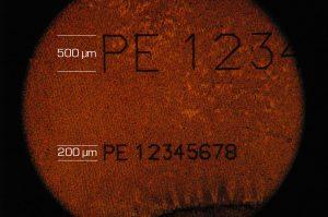 Laserbeschriftung im Mikrobereich mit Ultrakurzpulslaser