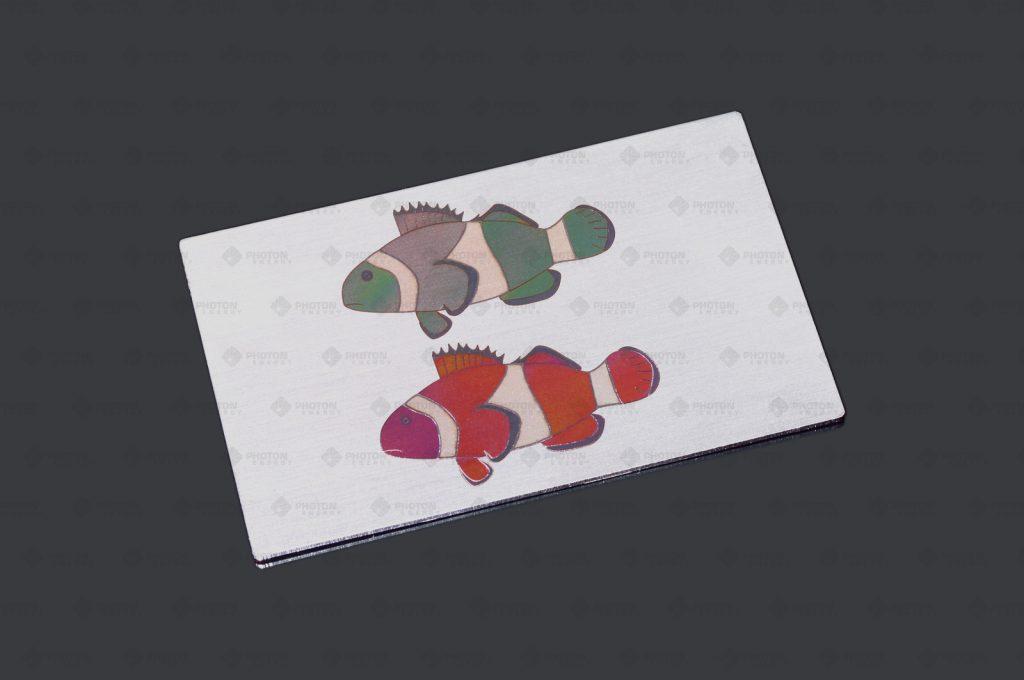 Laserbeschriftung Anlassfarben auf Metall