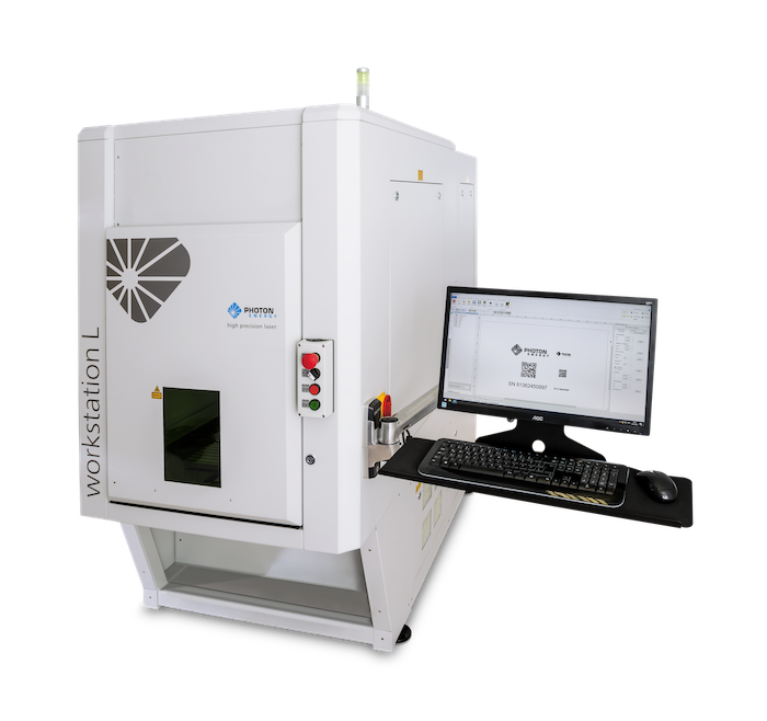 Lasermarkiersystem WORKSTATION L für Laserbeschriftung, Lasergravur, Mikrobearbeitung, Laserschneiden und Laserbohren