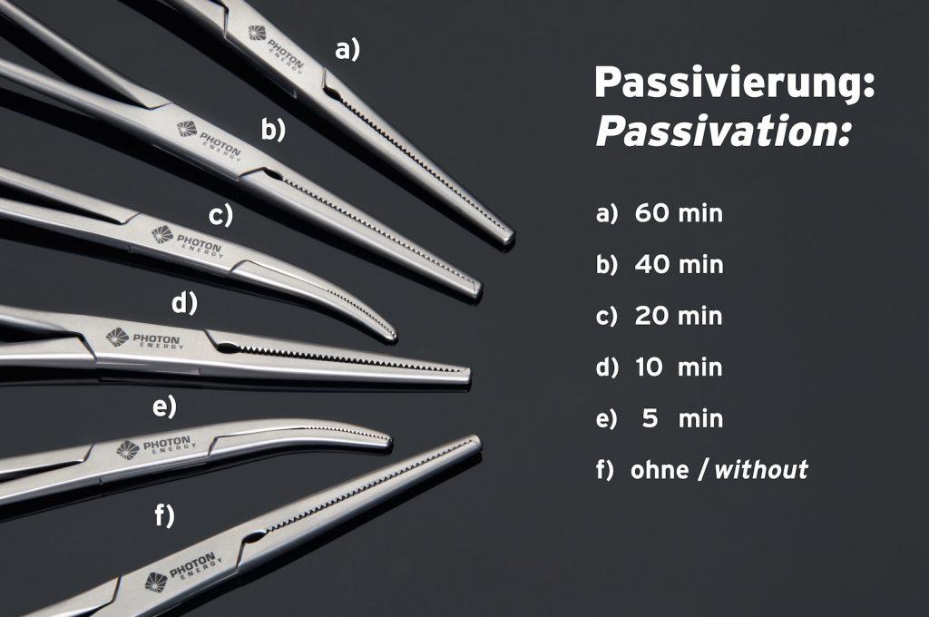Passivierung der Schwarzmarkierung PERMAblack mit Laser